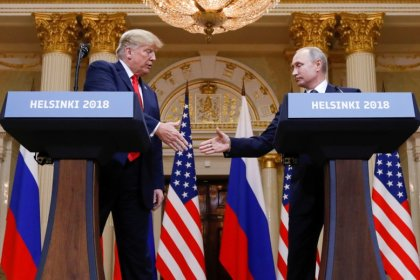 Shock as Trump backs Putin on election meddling at summit
