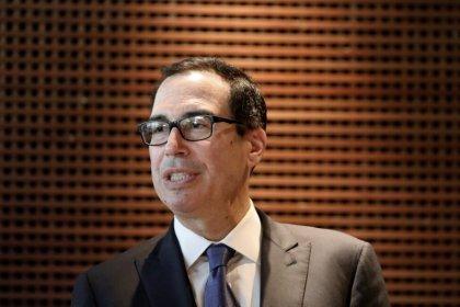 Exclusive: Treasury's Mnuchin watching Chinese yuan weakness for manipulation