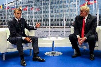 Trump et Macron ont discuté commerce et sécurité