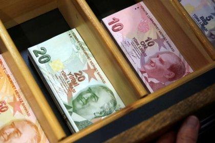Turkish lira edges up from record low on central bank pledge