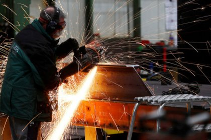 Euro zone second quarter growth revised upward but June industry output plunges