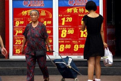 Investimentos e varejo da China crescem menos que o esperado