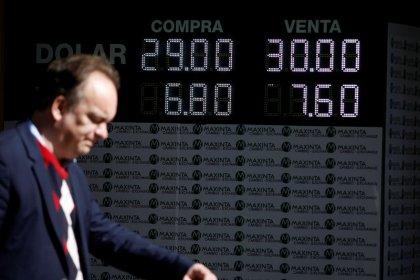 Banco Central da Argentina vende reservas com peso em recorde de baixa