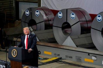 Trump says his steel tariffs will save the U.S. industry: WSJ
