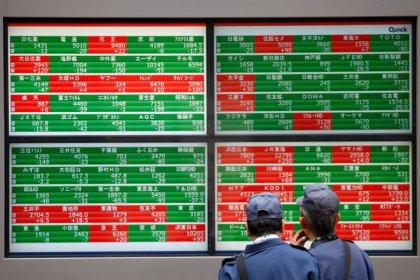 Stocks retreat as falling U.S. yields, trade worries sour mood
