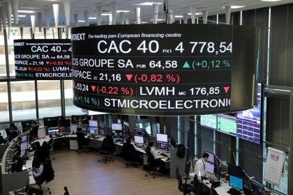 L'Europe dans le rouge avec les doutes sur le commerce et les taux