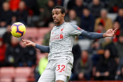 Liverpool's Matip out for up to six weeks with broken collarbone