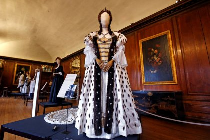 'The Favourite' corset dresses go on display at Kensington Palace