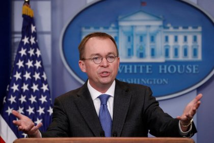 Trump says budget director Mulvaney to be acting White House chief of staff