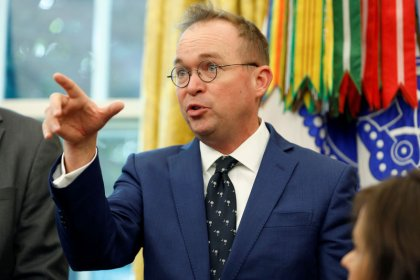 Trump picks Mulvaney as chief of staff - for now