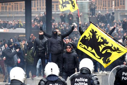 Multitudinaria manifestación en Bruselas contra el pacto migratorio de la ONU