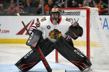 Blackhawks G Crawford diagnosed with concussion