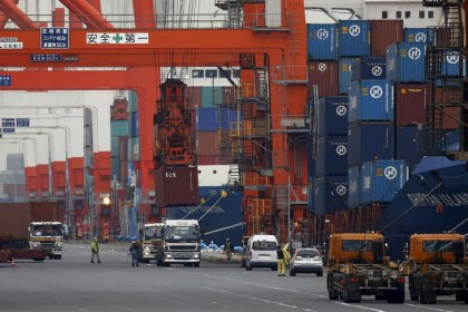 Japan's exports drop for ninth straight month as global demand falters