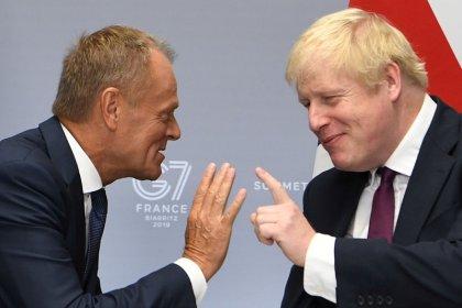 EU's Tusk, Johnson to discuss Brexit next week