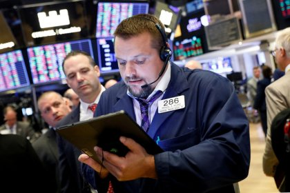 U.S. bucks broader equity weakness on trade hopes, dollar gains