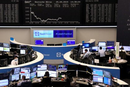 European shares rise on trade-fuelled optimism, London shines