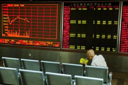 World shares steady as investors shrug off U.S. delisting threat