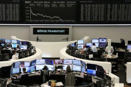 Trade fears, growth woes haunt global stocks as bond yields slide
