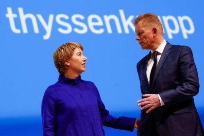 New Thyssenkrupp CEO to brief top managers on Tuesday - sources