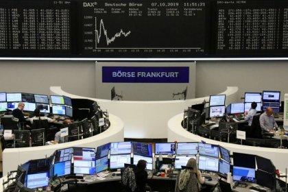 Trade angst, Brexit battle rattle European stocks, bond yields dip