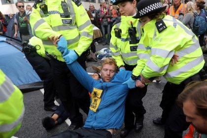 Over 300 arrests as London climate-change activists vow more protests