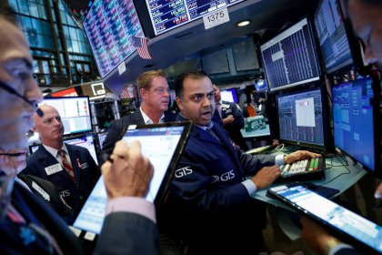 Stocks fall on trade angst; Brexit battle hurts pound