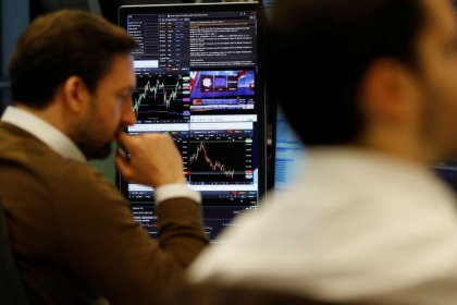 Earnings weigh on European stocks, sterling lower before Brexit votes