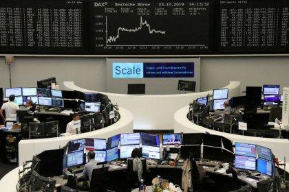 Auto stocks drive European shares higher, as PMI data, ECB eyed