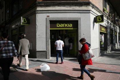 Spanish lenders Bankia and Unicaja's financial margins under pressure in third quarter