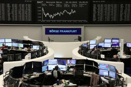 European shares near two-year high; Ryanair boosts Irish stocks