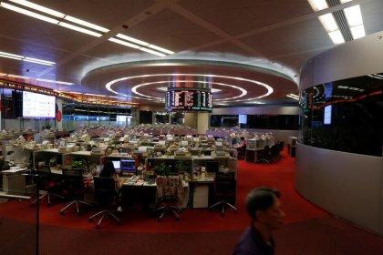 Asian shares a sea of red as Hong Kong chaos hits sentiment
