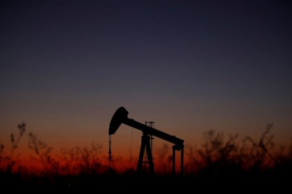 Oil gains on U.S. crude stocks fall, OPEC comments on slower U.S. shale growth