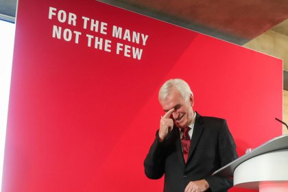 Labour's McDonnell promises nationalization under a minority government