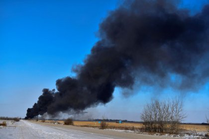 Canadian Pacific crude train derails, catches fire in Saskatchewan