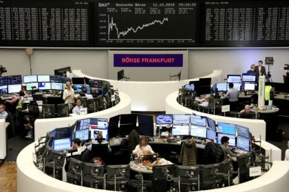 European shares tick higher as Britons head to polls