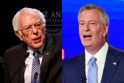 New York Mayor de Blasio endorses Sanders in 2020 Democratic race