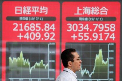 Índices da China marcam novos recordes por corte em taxa de empréstimo