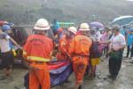 At least 126 killed as Myanmar jade mine collapse buries workers