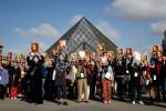 Manifestation de guides-conférenciers pour la réouverture du Louvre