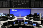 European shares hover at eight-month highs as virus' economic risks weigh