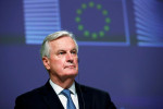EU Brexit negotiator Barnier, asked about future, says he wants to serve France