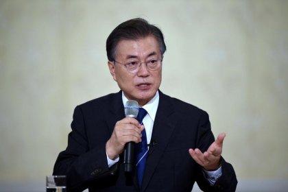South Korea's Moon says pushing to guarantee safety at Pyeongchang Olympics