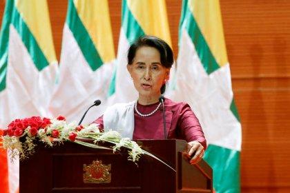 "Myanmar's Suu Kyi denies going ""soft"" on military"