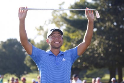 Golf: PGA Tour rookie Schauffele wins Tour Championship by one shot