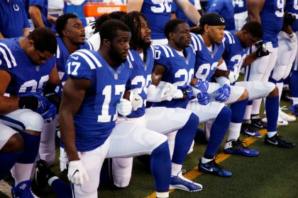 Trump blasts NFL for anthem protests, says not about race