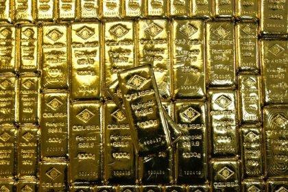 Цены на золото держатся вблизи пиков 1 недели на фоне напряженности вокруг КНДР
