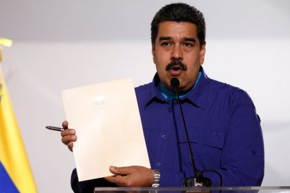 Venezuela's president says oil output up 200,000 barrels per day at start of year