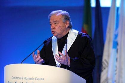 U.N. chief urges global rules for cyber warfare