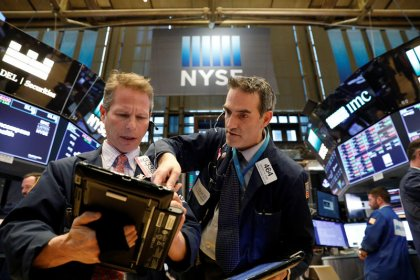 Industrial, tech shares drive gains on Wall Street