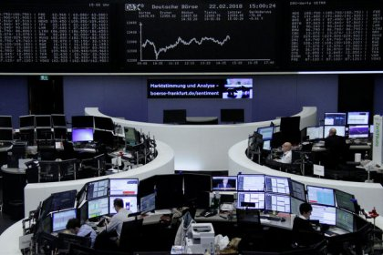European shares hit by disappointing updates; BT rallies